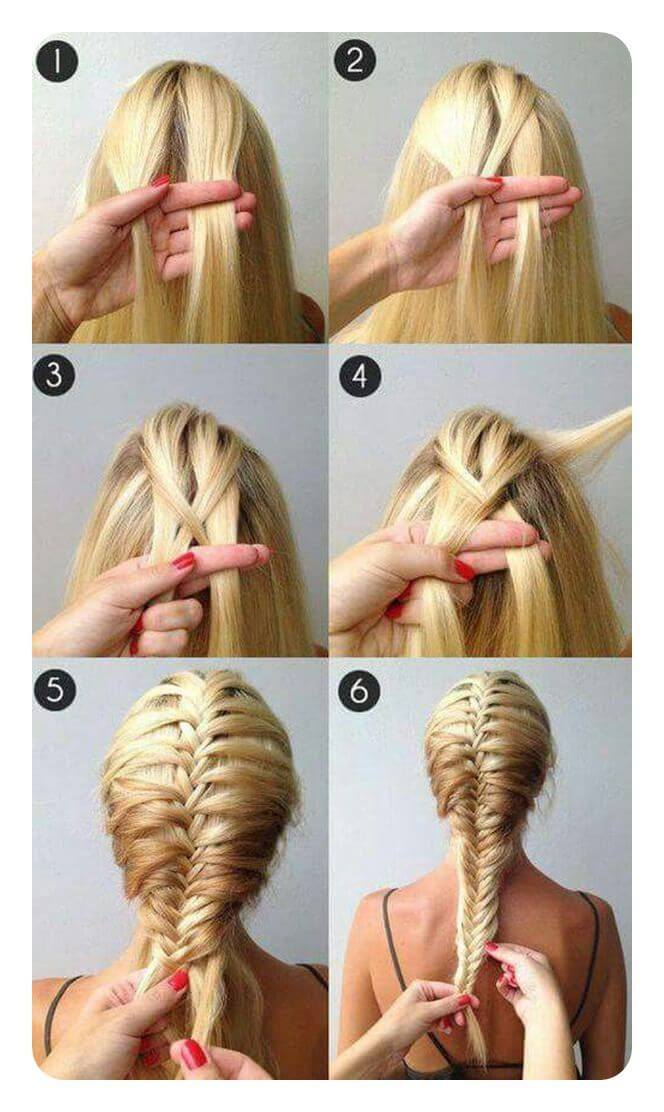 inverted herringbone braid step by step