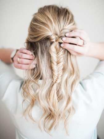 herringbone semi braid