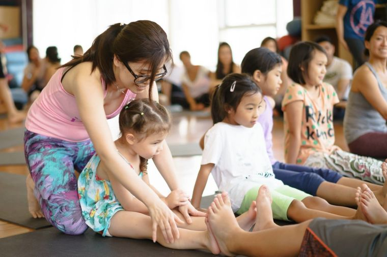 yoga for children and physical aspects