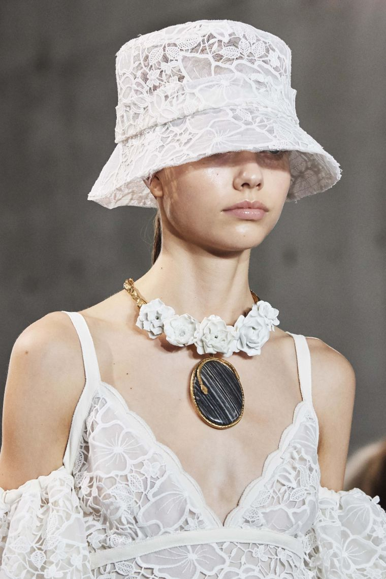 bell hat in white