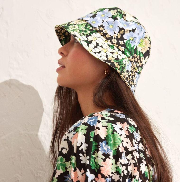 floral bell hat