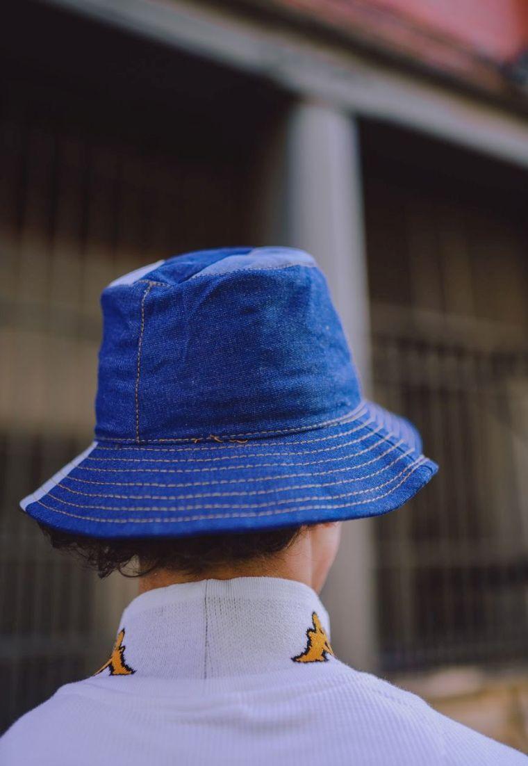 jeans design hat