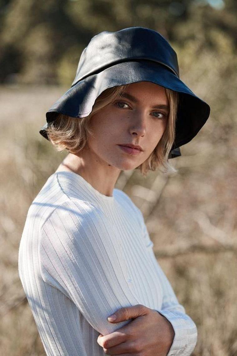 fisherman hat in white