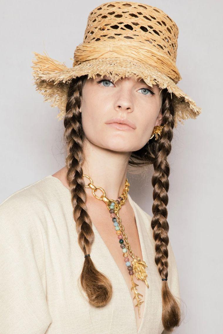 modern straw summer hats