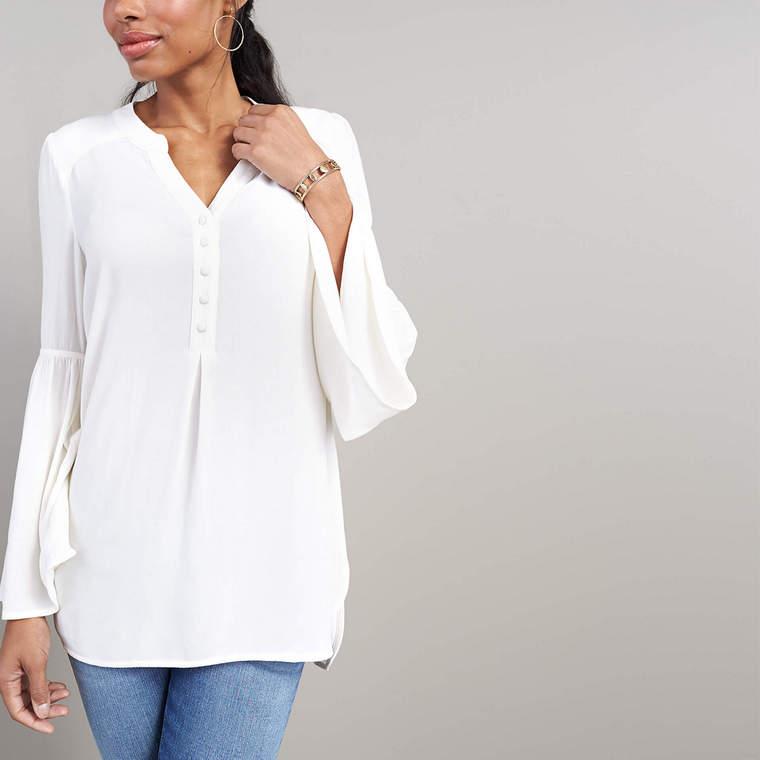 silk boho chic blouse
