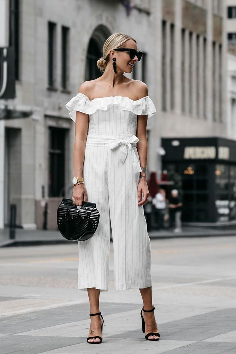 modern white jumpsuit