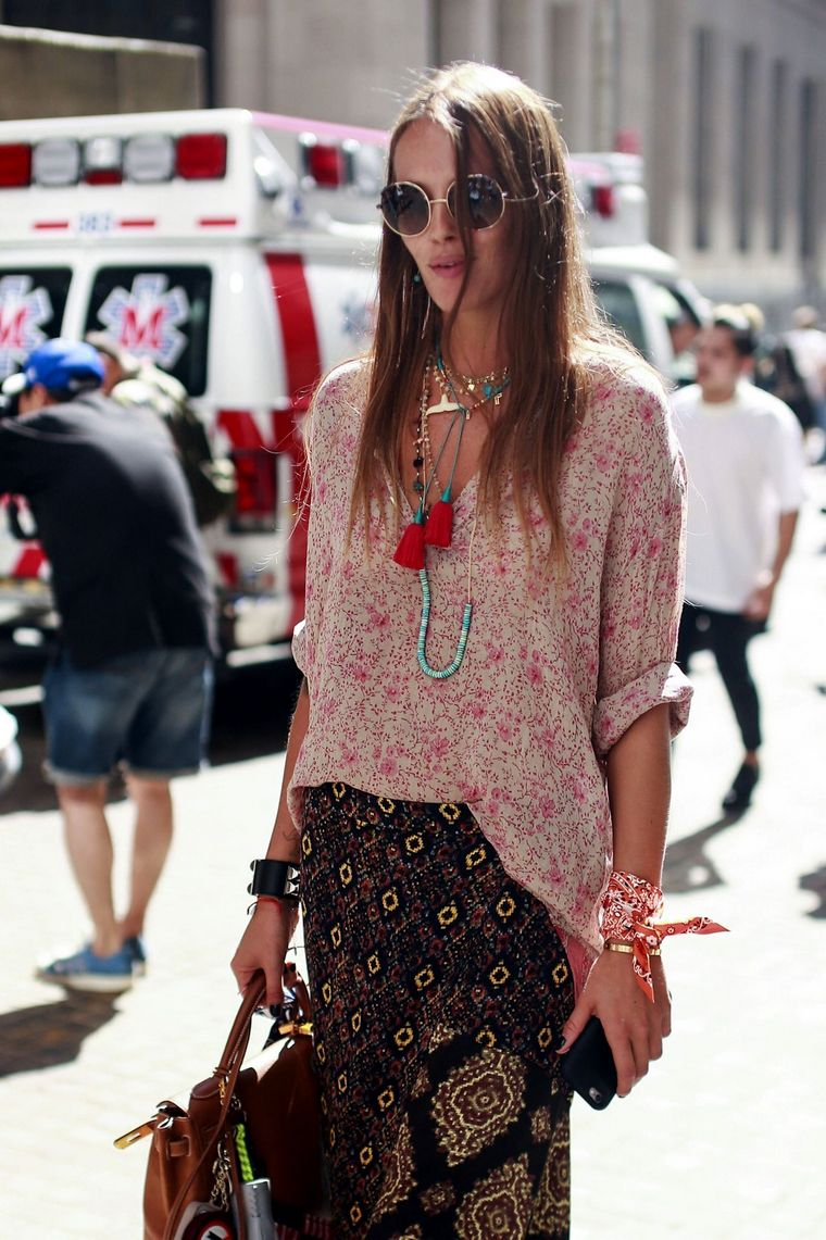 how to go to work hippie chic
