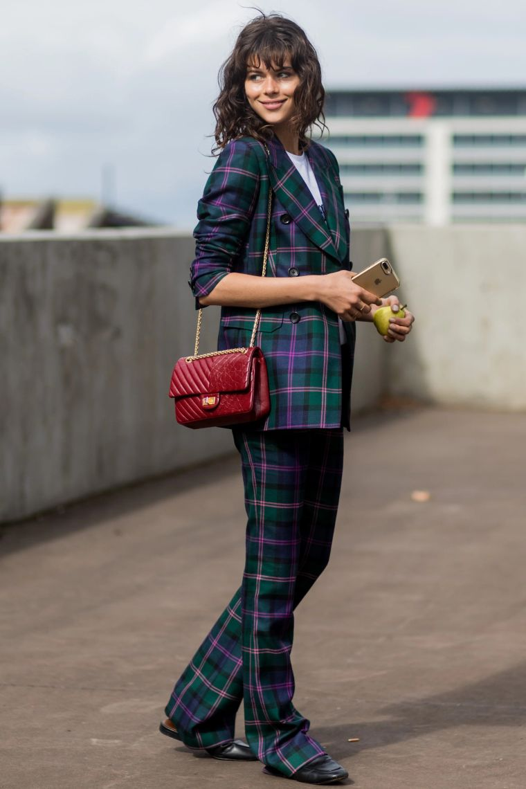 modern suit with squares