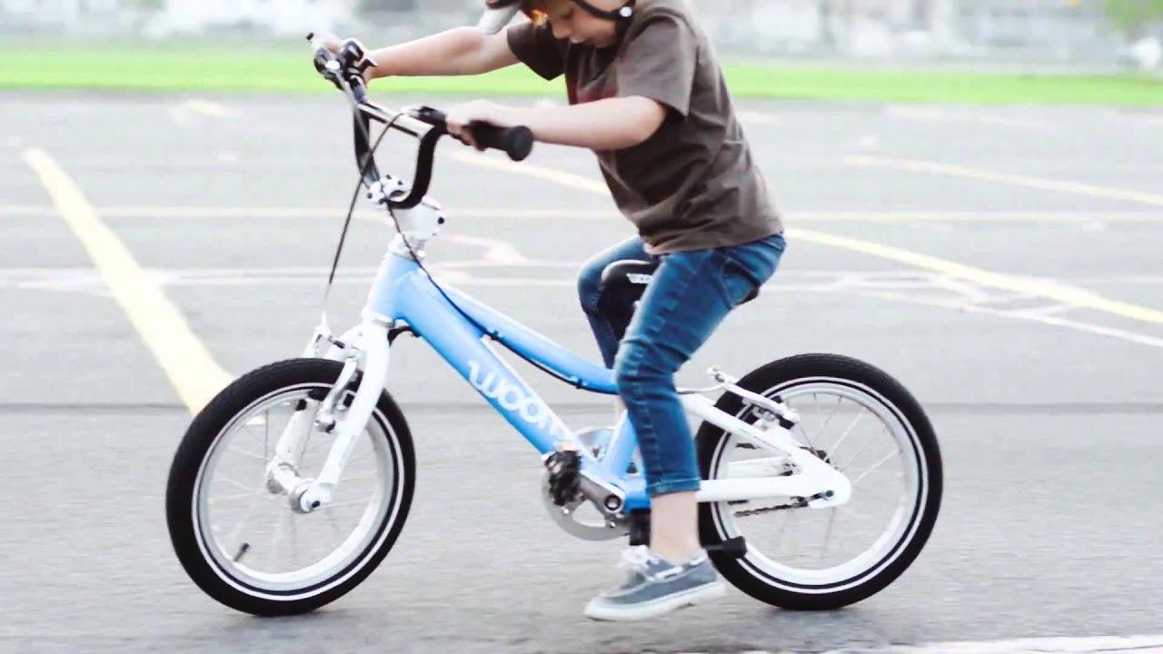 child learns biking