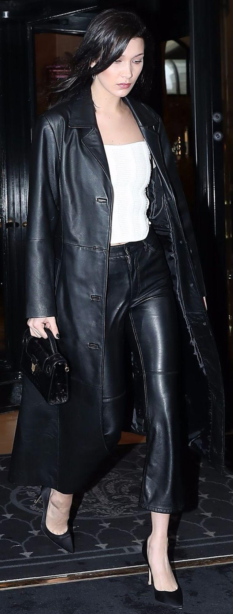 black leather outfit idea