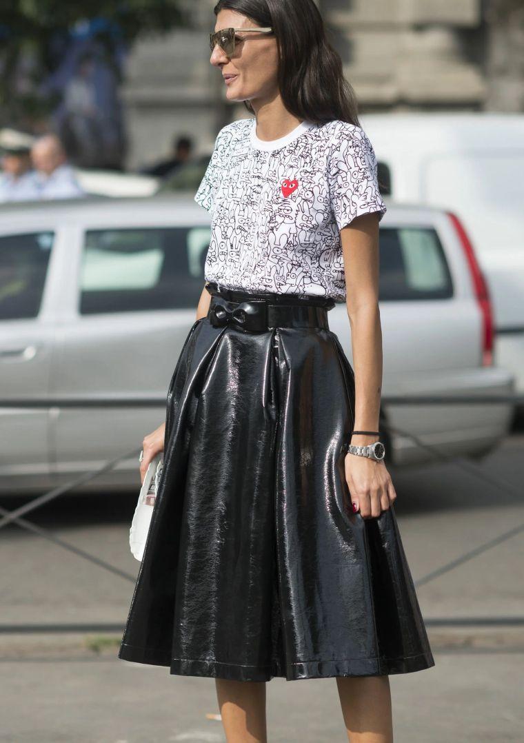 modern leather skirt