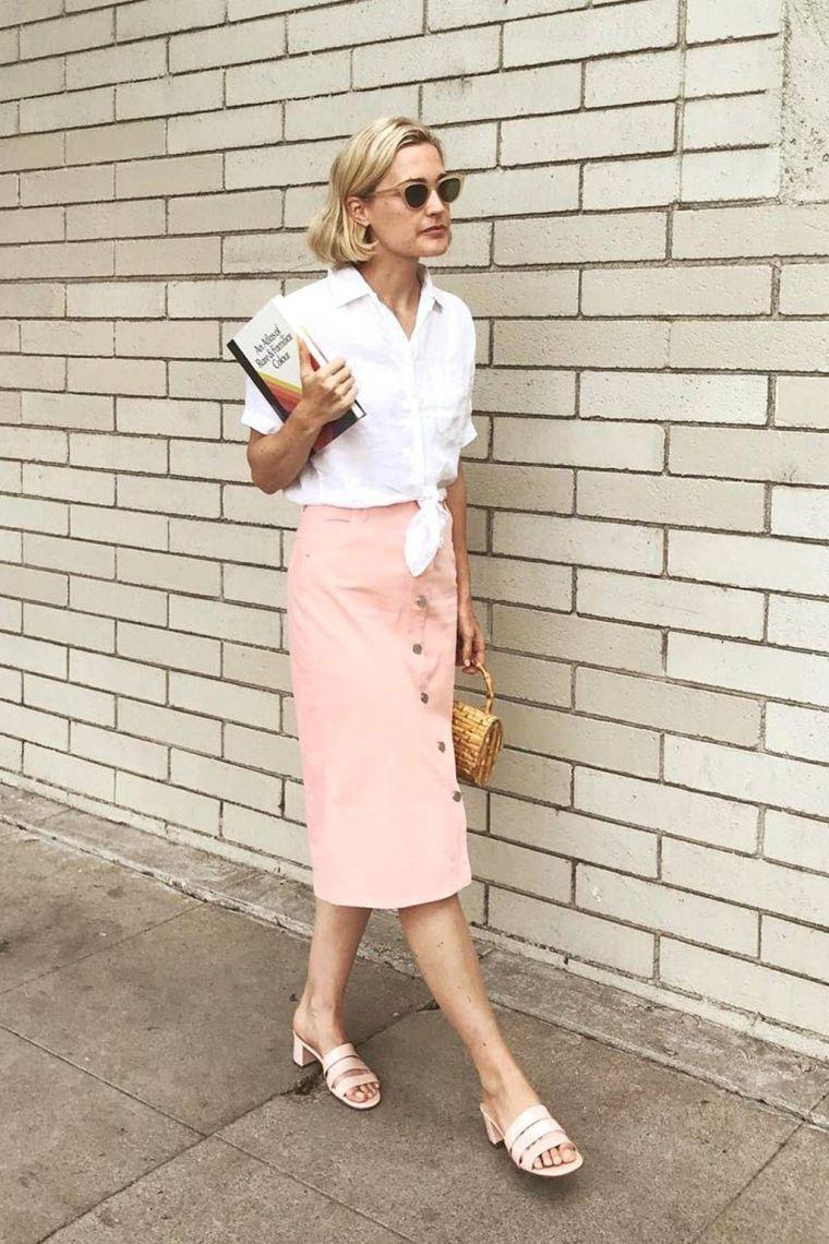 modern midi skirt
