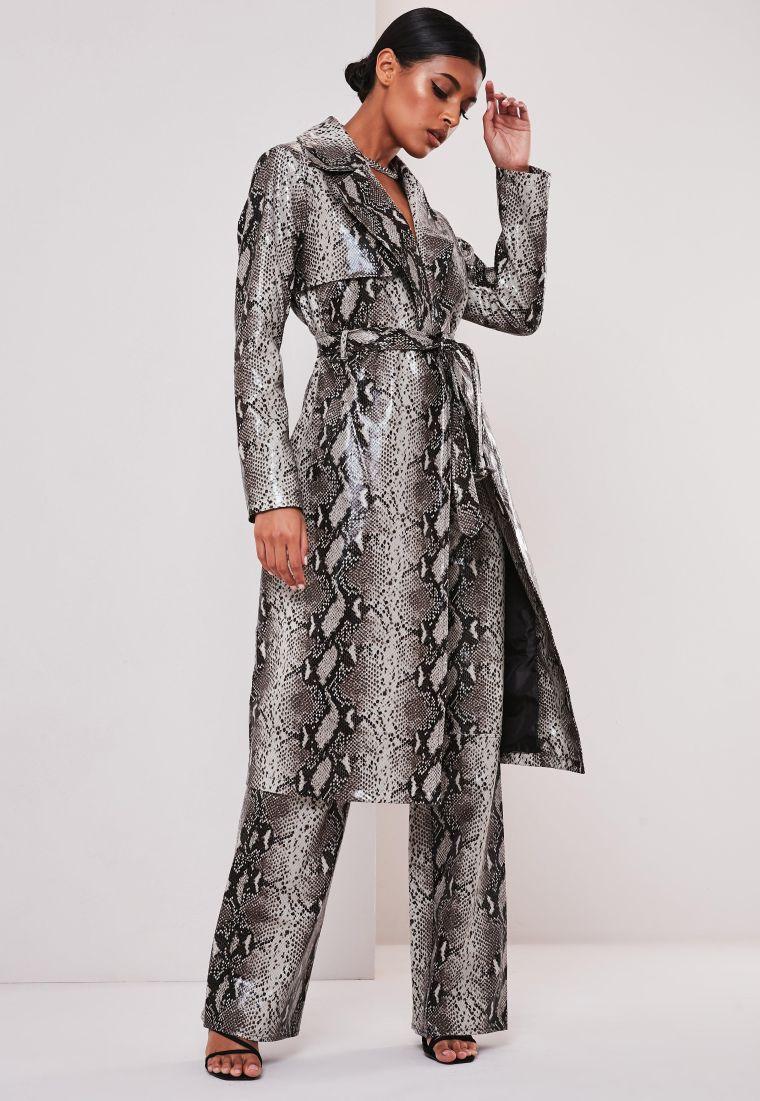 animal print leather coat