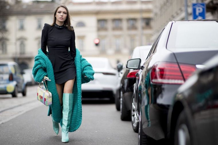 milan street style fashion mode