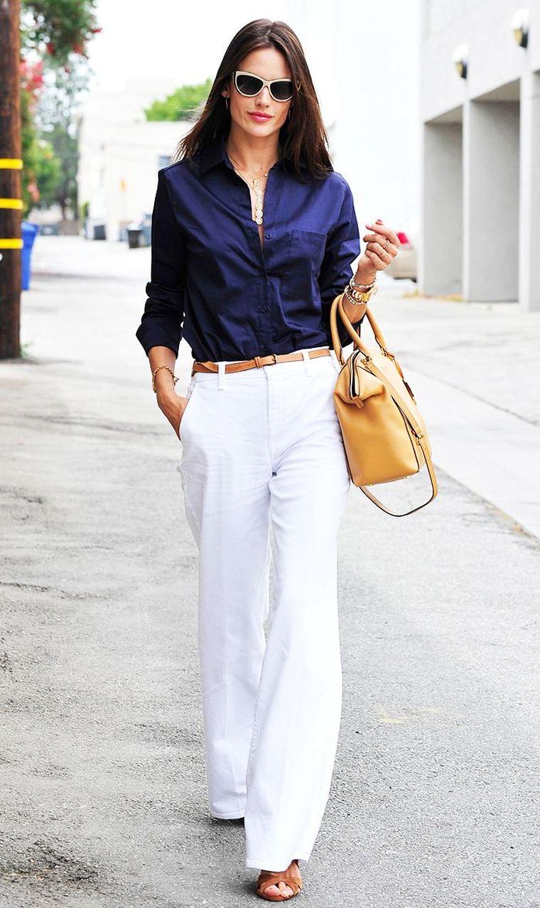 modern white pants