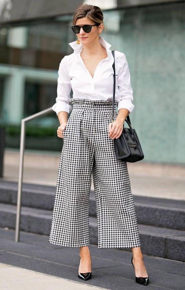 modern gingham square pants