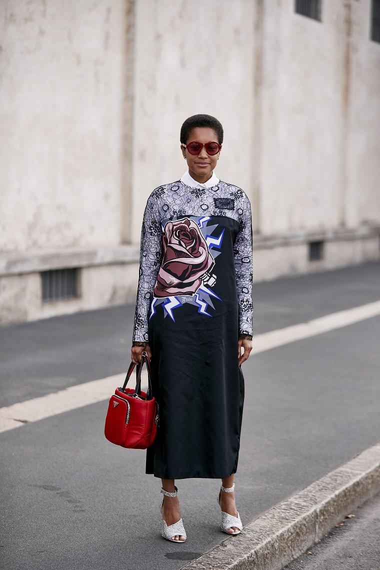 robe longue mode femme Milan