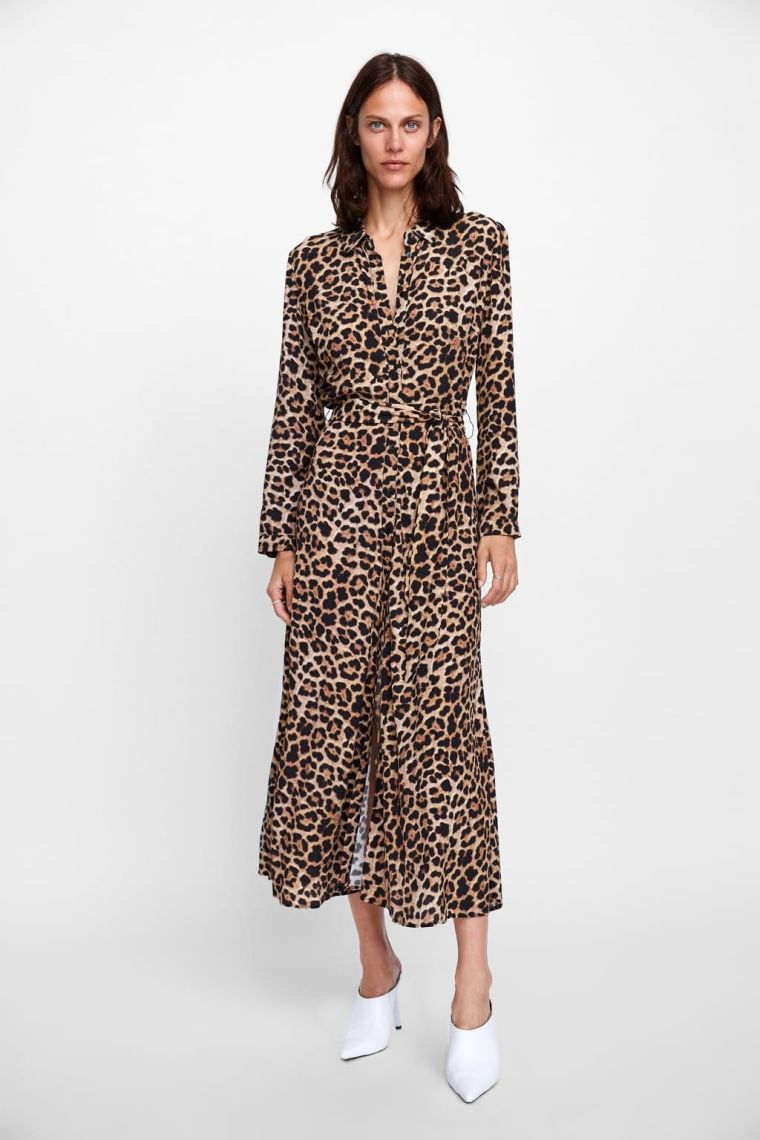 modern leopard print dress