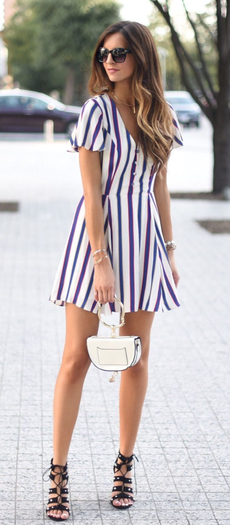 idea for a striped dress