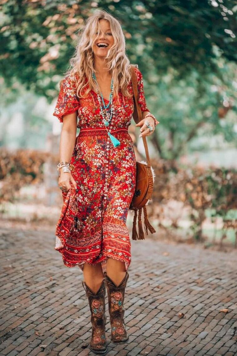 colorful hippie style dresses