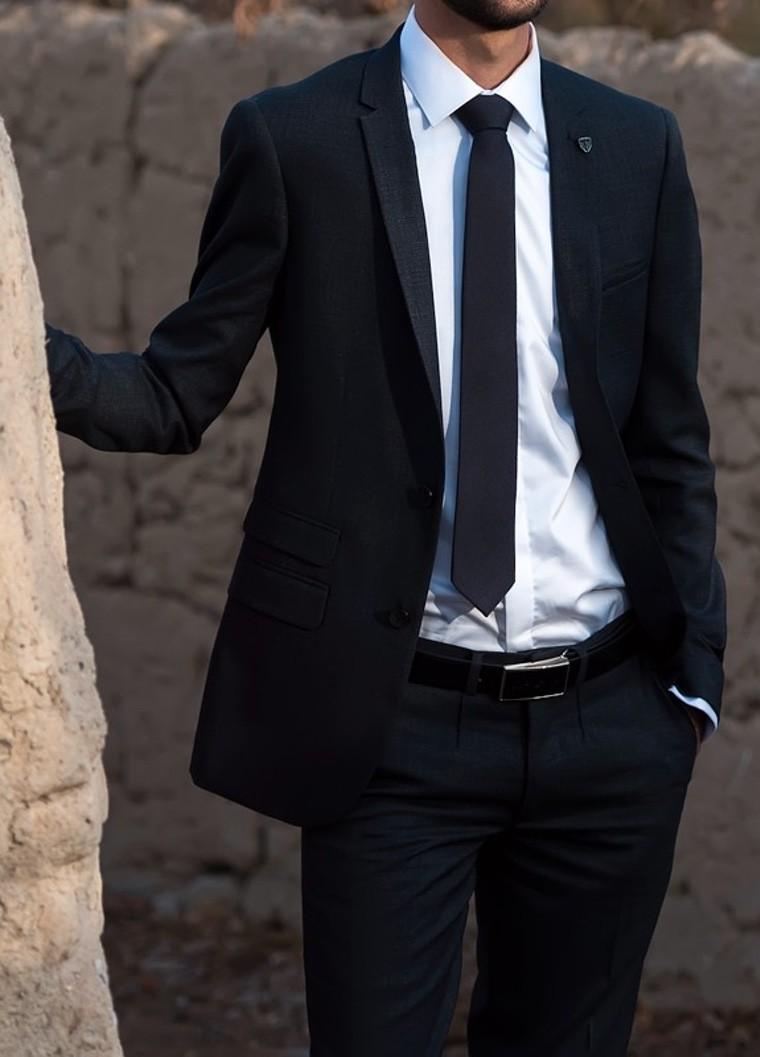 black jacket style man fashion idea