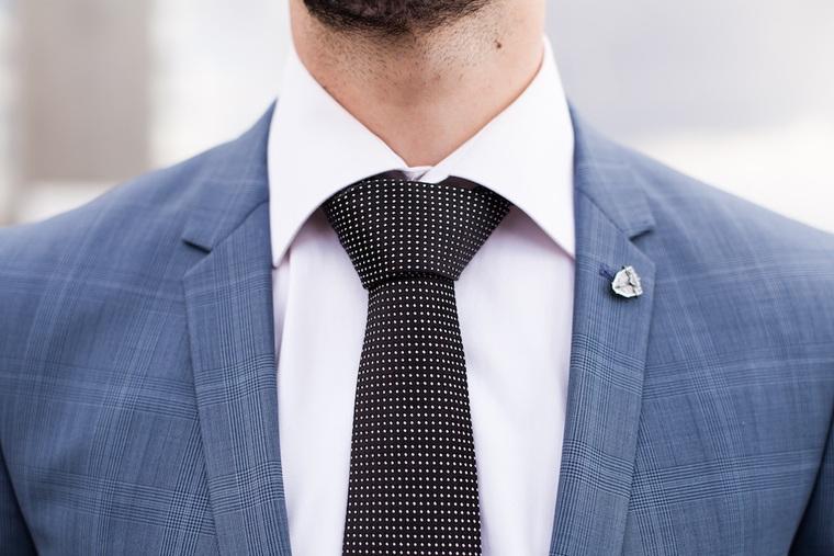 man suit tie fashion