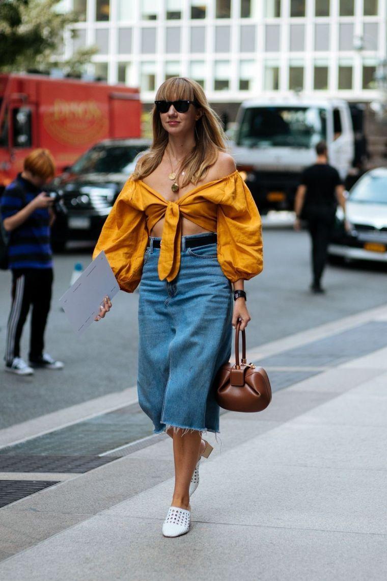modern jeans skirt