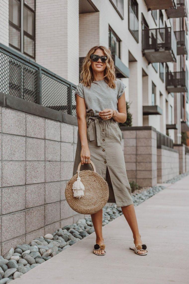 idea for paper bag skirt
