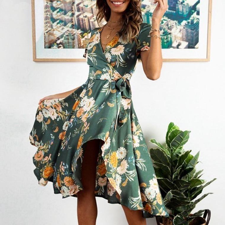 bohemian fashion chic summer dress