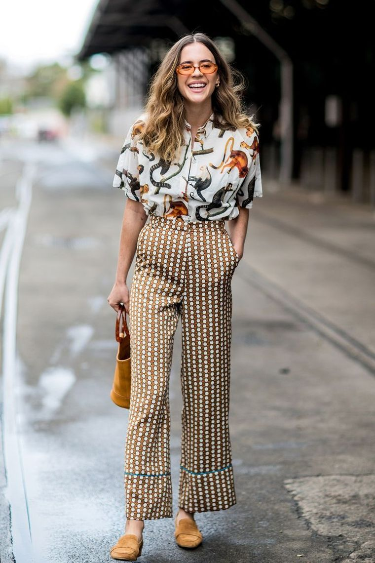long pants with prints