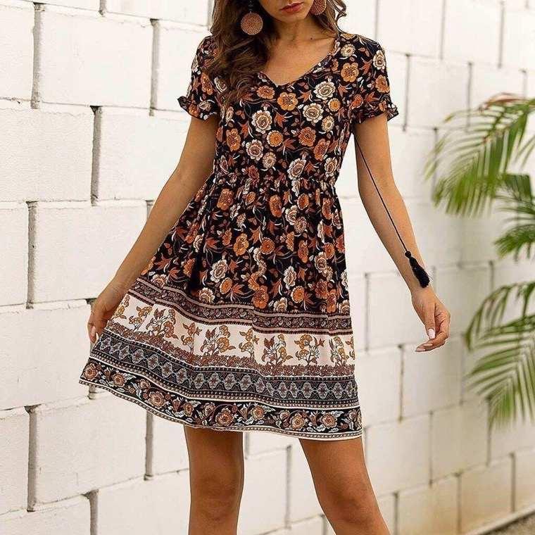 short boho chic dress