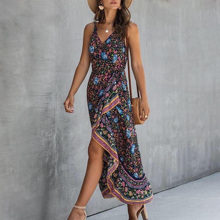 bohemian style long summer dress