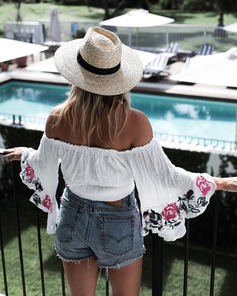 woman summer clothes with blouse