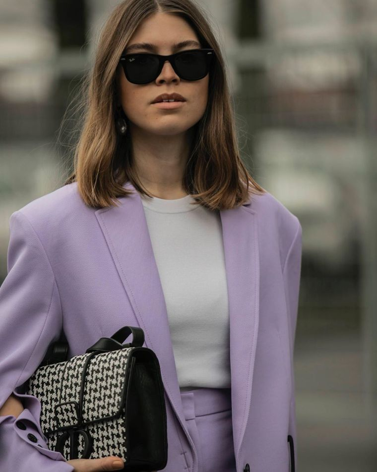 modern lavender color suit
