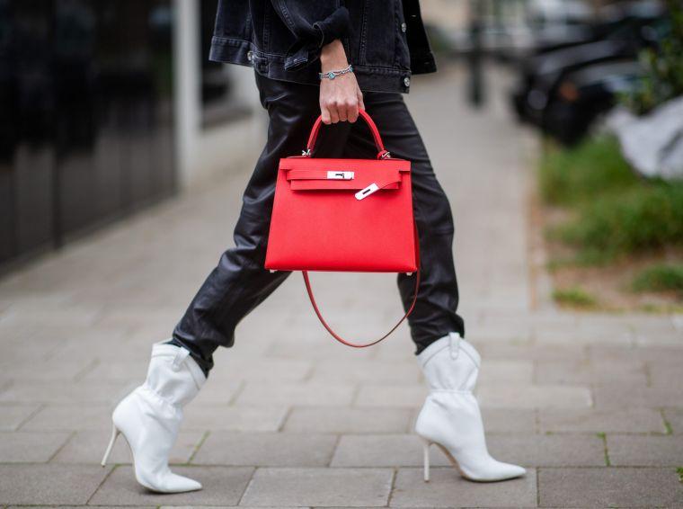 modern handbag in red