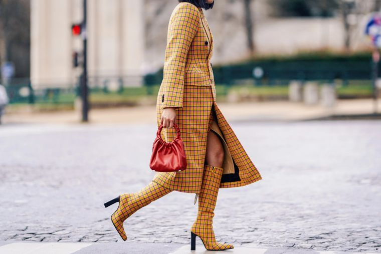 stylish plaid outfit idea