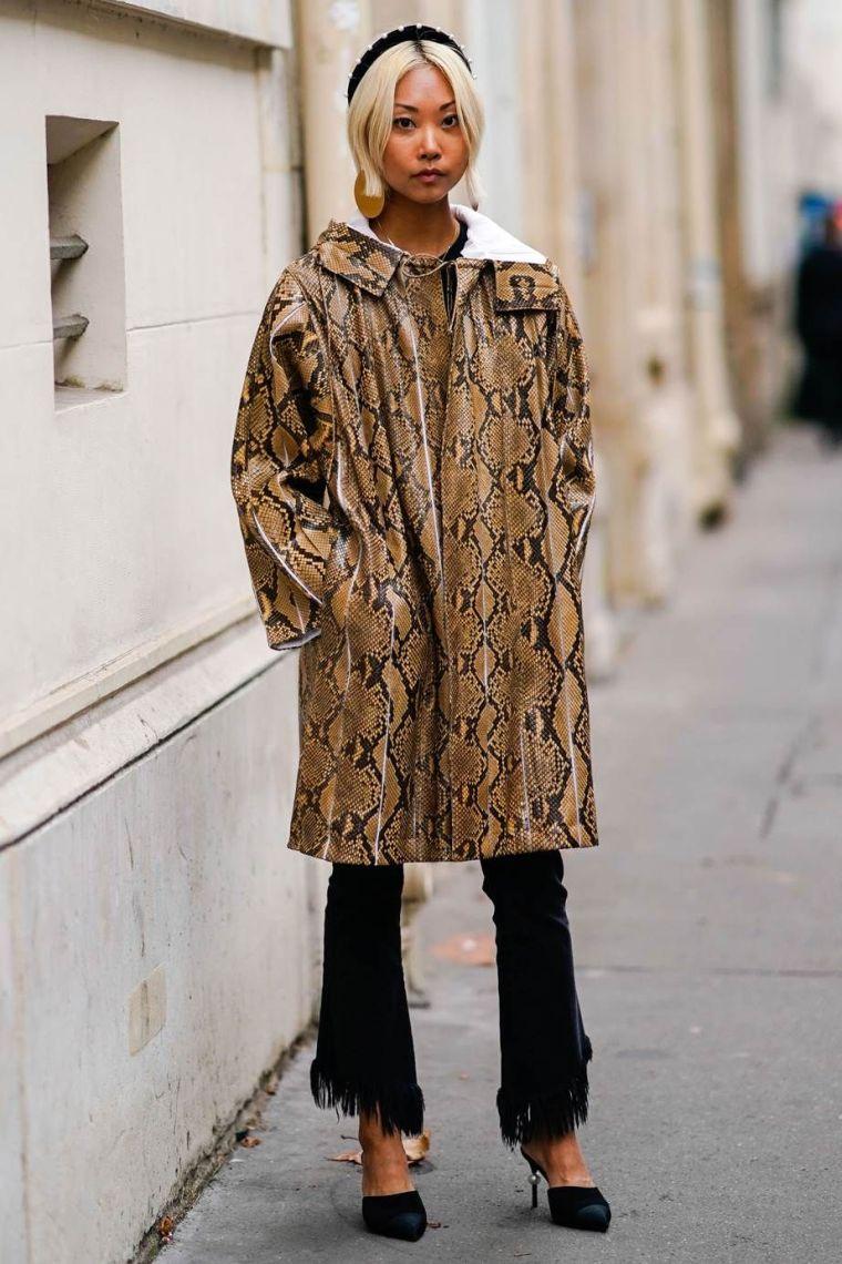 trendy tiger print coat