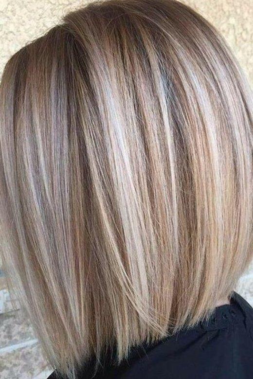 beige highlights on short hair