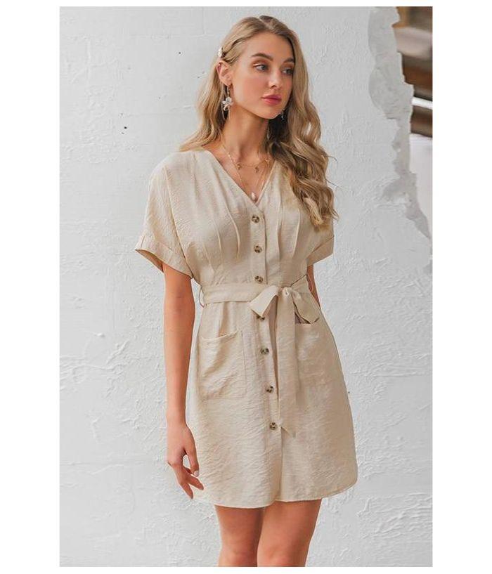 little beige summer dress