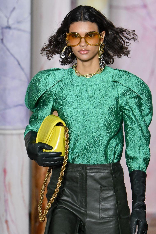 handbag in bright color