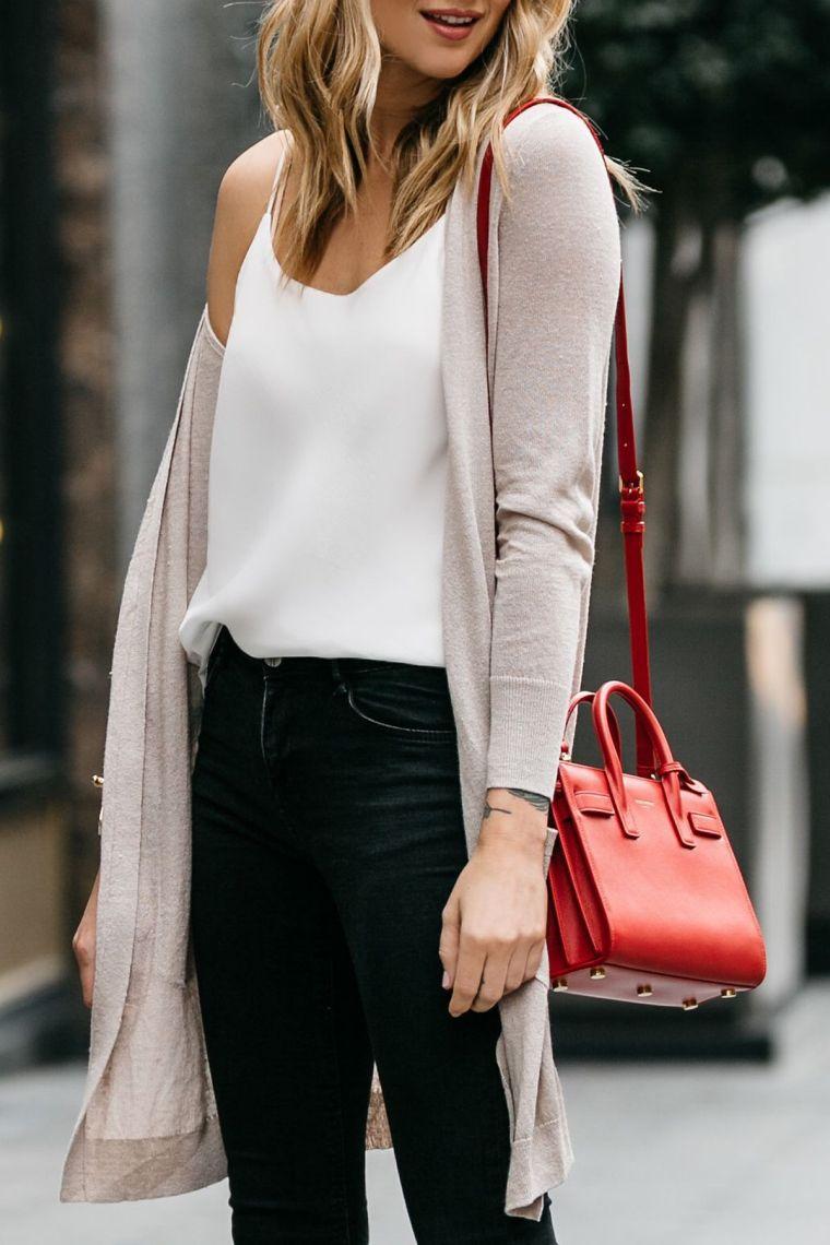 stylish trendy red handbag