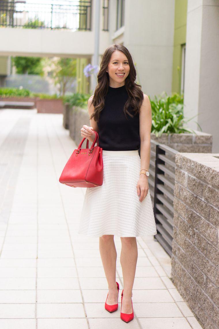 trendy red handbag for summer