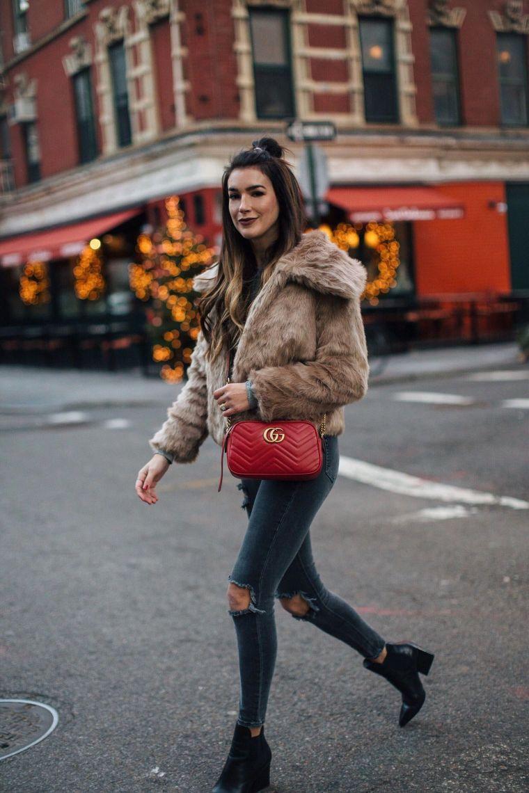 trendy red handbag by gucci