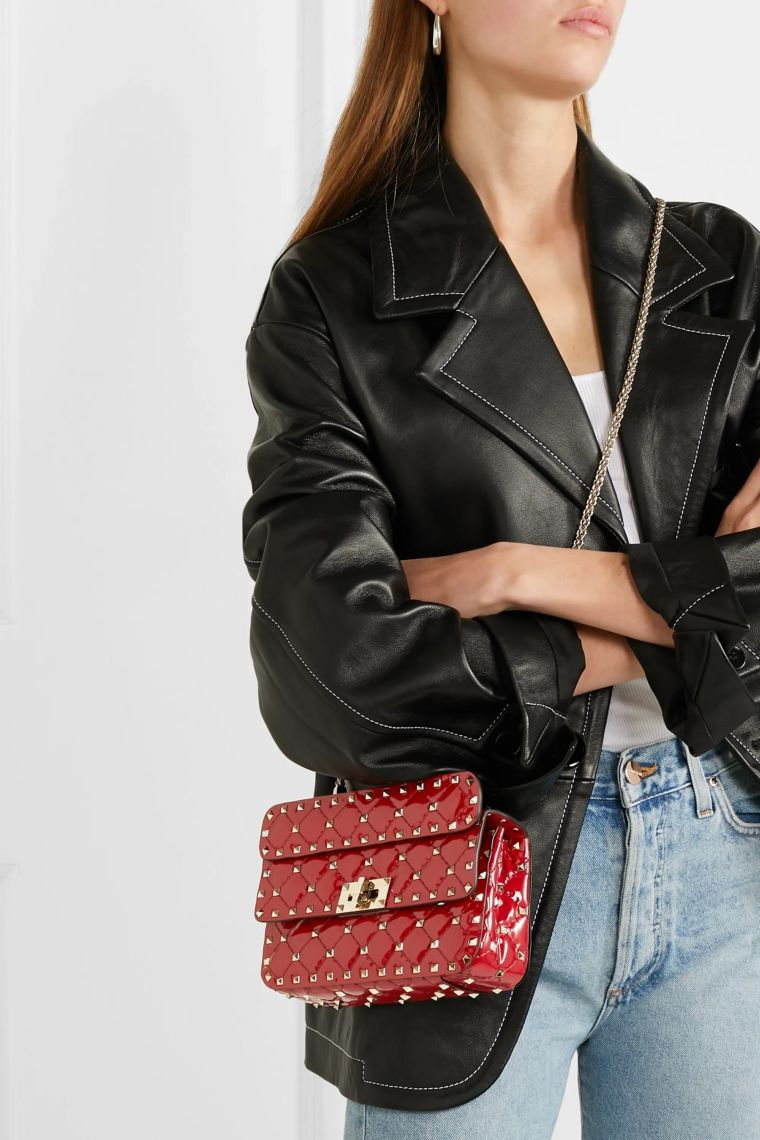 trendy red handbag by Valentino