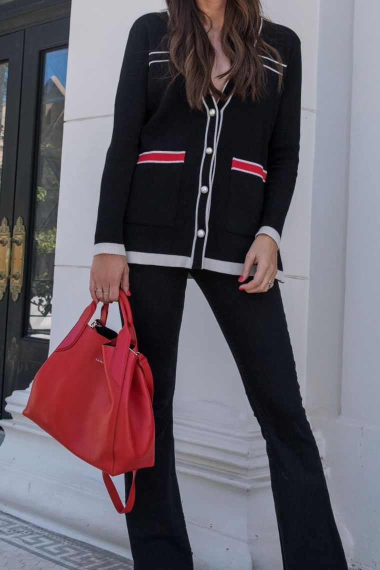 elegant bag in red