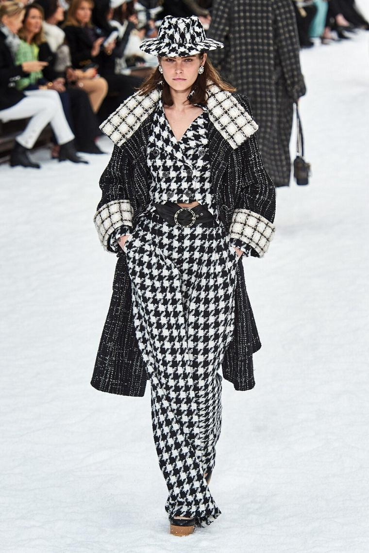 black white autumn winter fashion trend