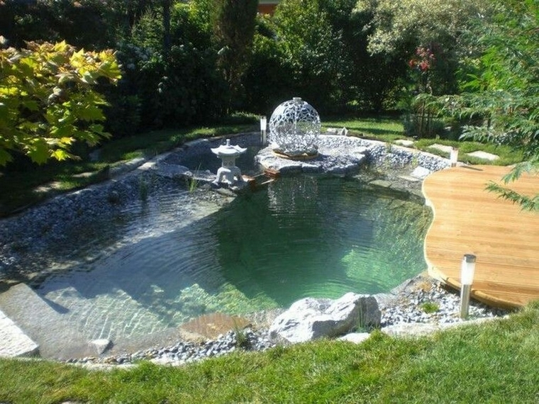 earthworks construction of natural swimming pool