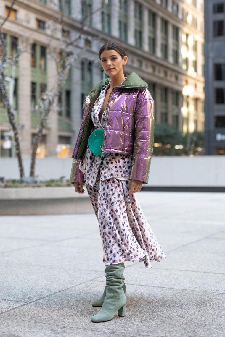 modern jacket in metallic color