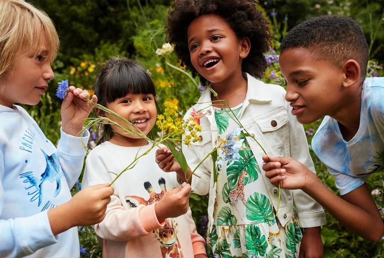 floral design children joy