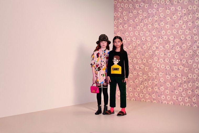 fendi fashion kids stylish